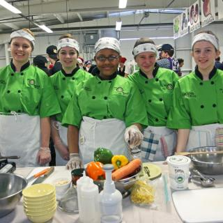 Junior Iron Chef students at competition