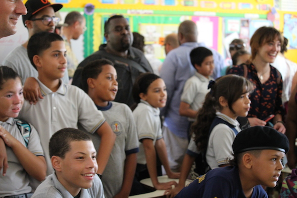Students at Diego Vazquez School. Photo credit David Loitz (c) 2014